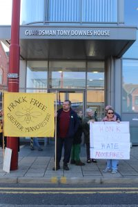 Some of our supporters at the Fund HQ in Droylsden.